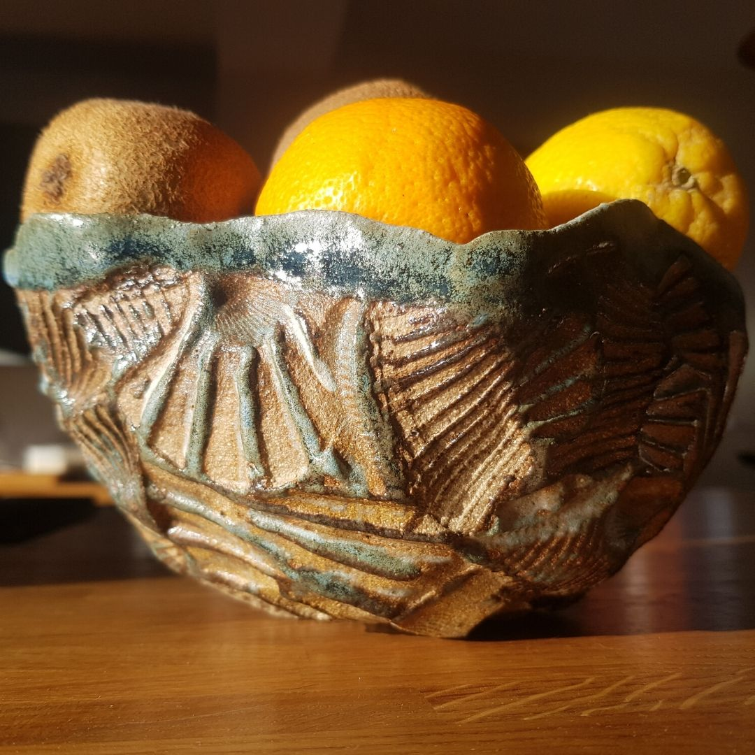 Seascape ceramic bowl fruit salad bowl