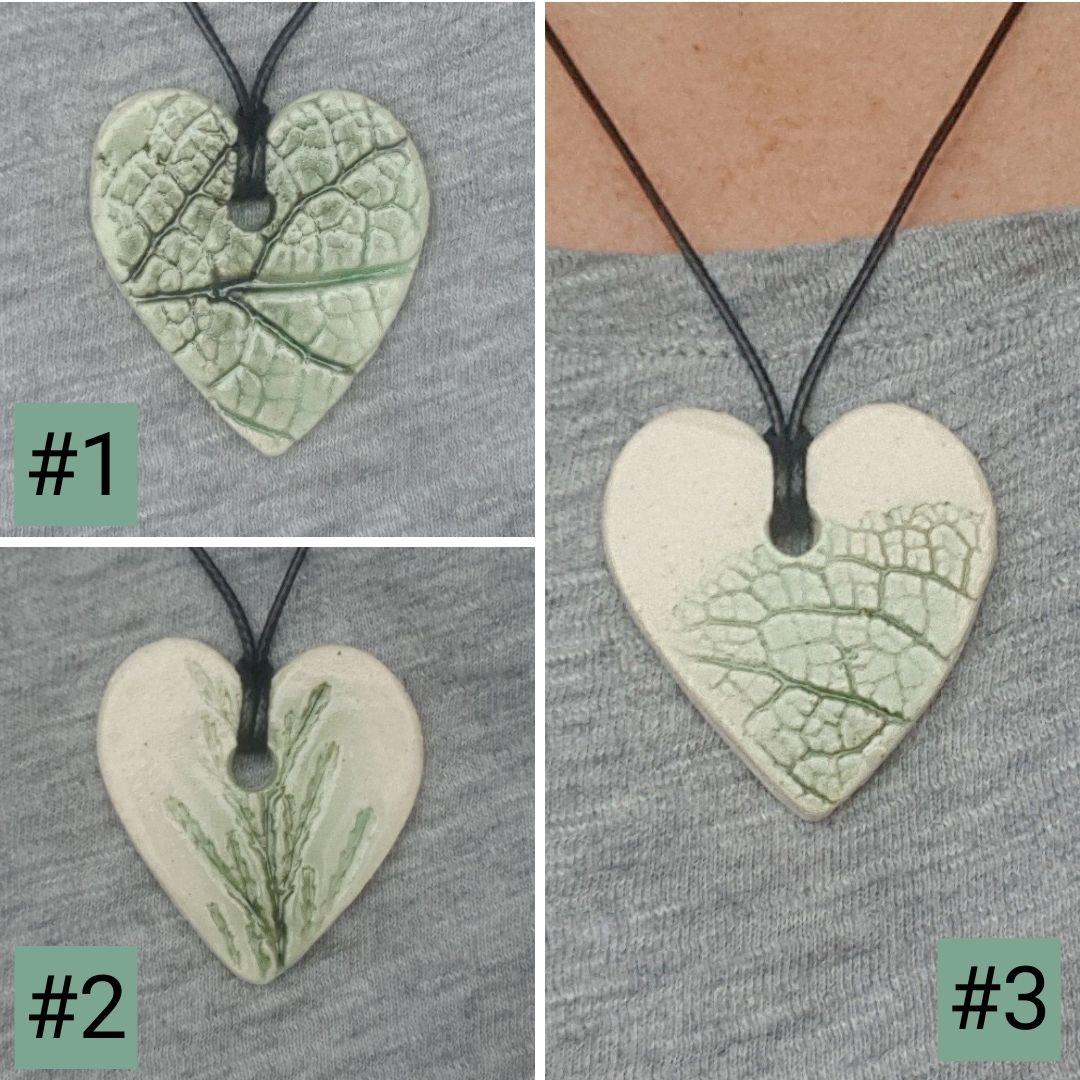 botanical ceramic pendants